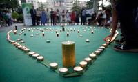 Imagen del acto del Día por la prevención del suicidio en Logroño