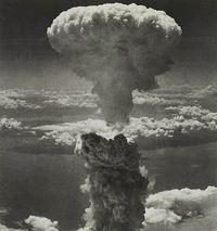Momento de la explosión en Nagasaki, el 9 de agosto de 1945.