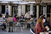 Reapertura de terrazas en la plaza Mayor de la capital vallisoletana