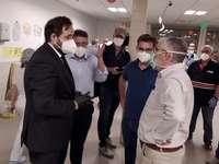 Francisco Núñez se trasladó al Hospital de Hellín para ofrecer la colaboración del PP.