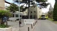 Exteriores del hospital de Aranda de Duero.
