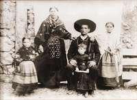 La familia Garrido, en una imagen tomada en 1899.