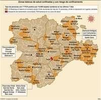 Ya son 60 las zonas de salud en riesgo de confinamiento