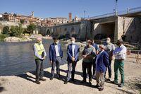 Obras de rehabilitación del puente medieval de Tordesillas
