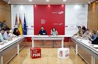 El secretario autonómico del PSOE, Luis Tudanca, preside la Comisión Ejecutiva Autonómica.