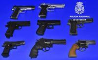 La Policía destruye pistolas simuladas intervenidas en 2019