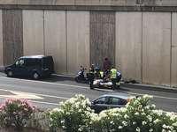 Herido un motorista en un accidente en la circunvalación