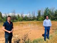 Prieto comprueba los daños de las tormentas en La Manchuela
