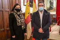La concejala Lidia Paz y el presidente de FEVAM, Eusebio Portillo.