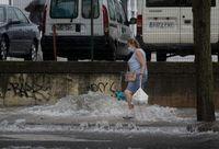 Tremenda tormenta de agua y granizo sobre Burgos capital
