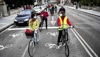 Los ciclistas reclaman que las ciclocalles sean definitivas
