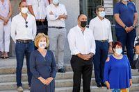Minutos de silencio en la Subdelegación por la mujer asesinada por su expareja en San Ildefonso