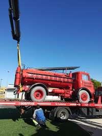 Manzanares retira el camión de bomberos para su repintado