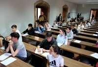 Alumnos inician las pruebas de la Ebau el pasado curso en el distrito universitario de Salamanca.