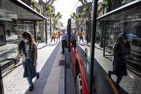 Los autobuses recuperarán el lunes líneas y frecuencias