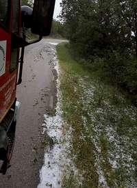 Granizada en Piedrahita y mucha agua en la Demanda