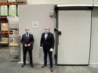 Una cámara frigorífica para el Banco de Alimentos