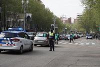 Marcha lenta en Valladolid para reclamar la equiparación de todos los trabajadores de la Junta