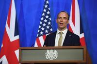 El ministro de Exteriores de Reino Unido, Dominic Raab