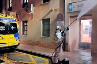 Los bomberos superaron las 150 intervenciones durante los tres meses del primer estado de alarma.