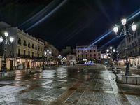 Calles vacías en Ciudad Real, durante el toque de queda