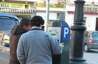 Imagen de archivo de uno de los lugares de pago del estacionamiento en zona azul.