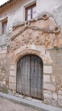 Fachada de la Casa del Cordón de Valdecañas de Cerrato.