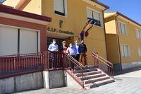 María Ángeles Martínez, Mari Luz Fernández, Rodrigo Molina y Salvador Martínez visitan el colegio de Priego