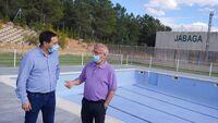 Martínez Chana y José Luis Chamón visitan la piscina de Jábaga