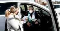 Vacunación de mayores de 80 en Lerma