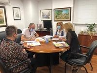 Reunión en la Delegación Provincial de Bienestar Social.