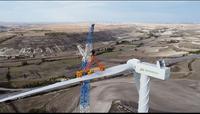 Instalación en Burgos del aerogenerador terrestre más potente de España.