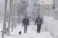 Cencellada y frío en Valladolid