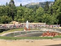 Juegos de agua en las fuentes de La Granja por la festividad de Santiago