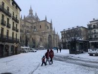 'Filomena' cubre de blanco Segovia