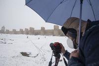 La nieve llega a Ávila
