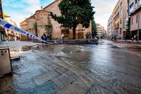 Rotura de una tubería de agua en la calle Lanza de Ciudad Real