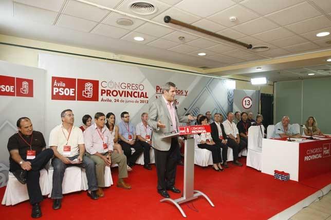 Julio Villarrubia clausuró el Congreso del PSOE.