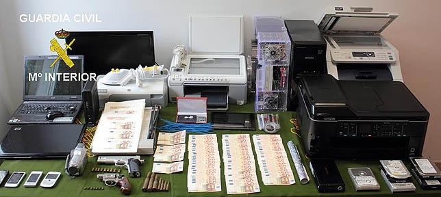 Desmantelan en Palencia una banda de falsificación de moneda - Foto  dp 461bce96e51af