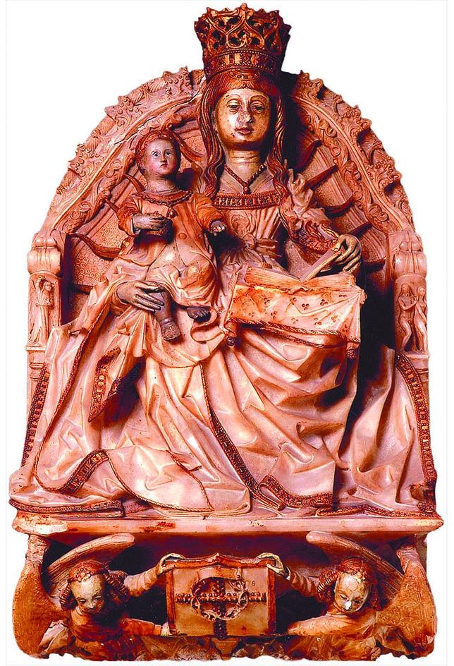 La Virgen del Prado. Esta escultura, realizada en alabastro, es la que ha donado Várez Fisa a la pinacoteca madrileña.