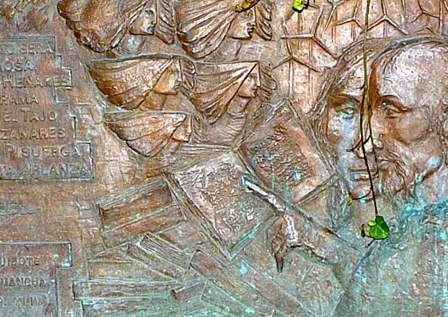 Placa en la Casa Museo de Cervantes.