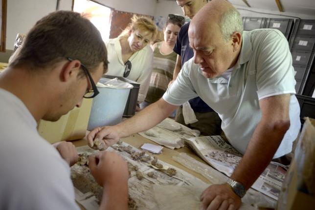 Comienzan los trabajos de la XXVIII campaña de excavaciones arqueológicas en el yacimiento de Calatrava la Vieja./ PABLO LORENTE