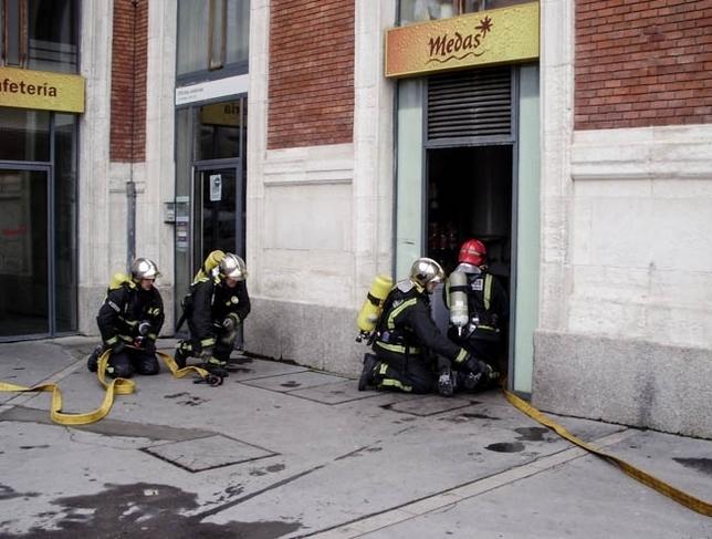 Simulacro de emergencia en la estación.