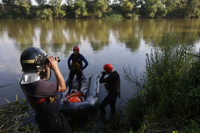 Búsqueda del desaparecido en la zona del Duero, en San Miguel del Pino. J. Tajes