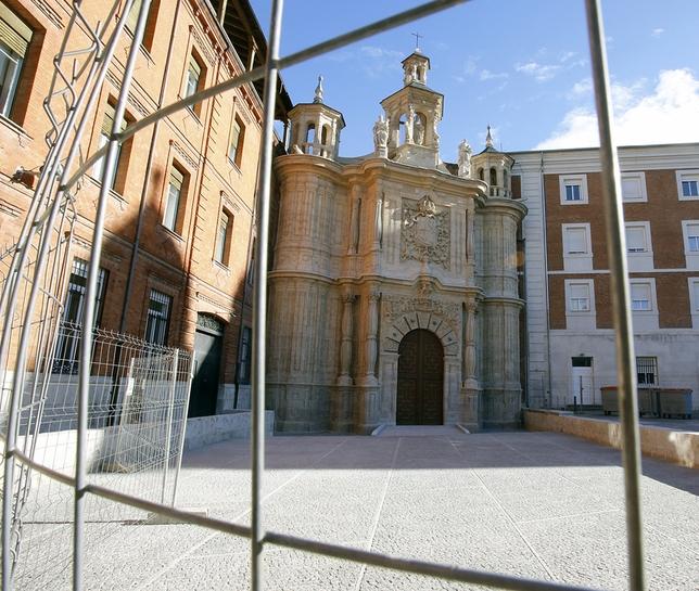 San Juan de Letrán, en el paseo de Filipinos de Valladolid, tras las obras de restauración. El día