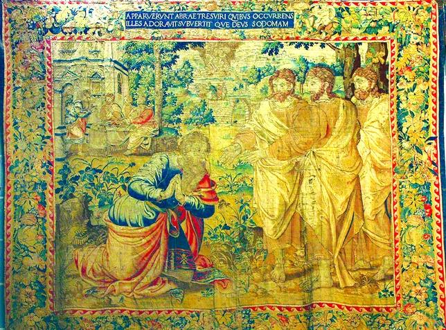Tapiz de Abraham del siglo XVI de los talleres de Bruselas