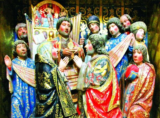 Escena de la vida de San Hipólito de Francisco de Colina del siglo XVI,