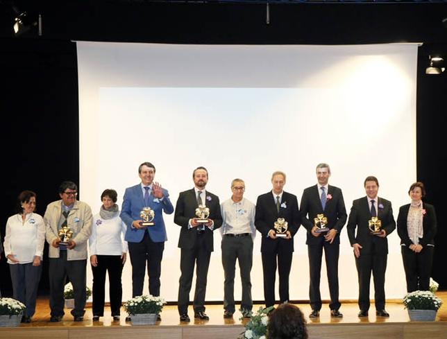 Los ayuntamientos de Toledo, Sevilleja, Calera y Chozas y Fuensalida, la Diputación y la Junta recibieron un reconocimiento. /