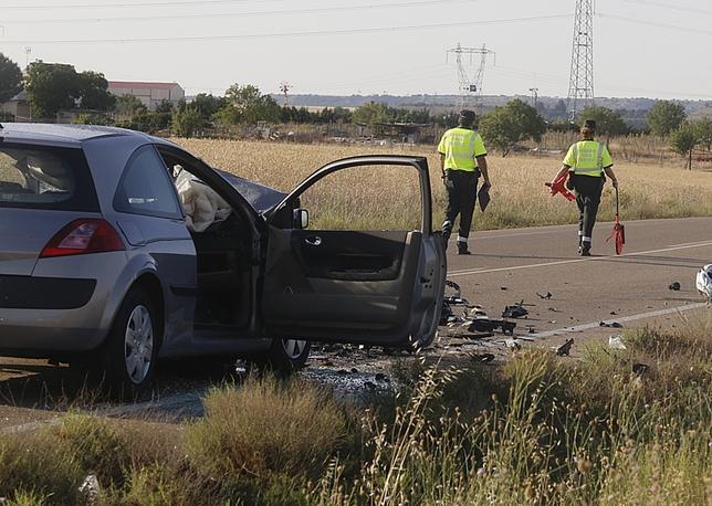 Accidente mortal registrado en Cigales.