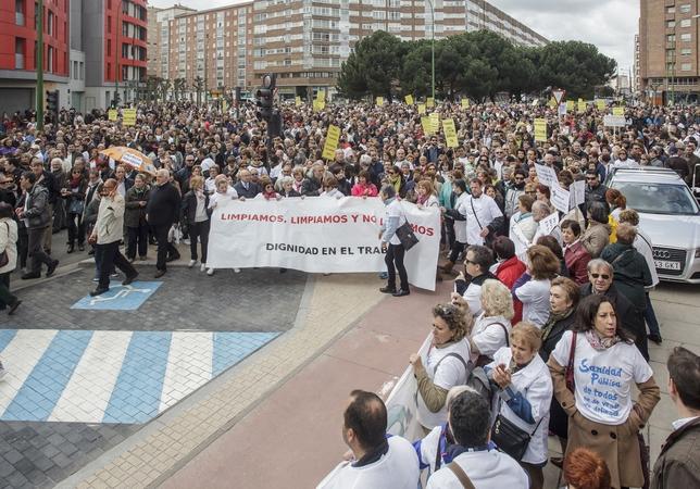Marchas por la sanidad pública para pedir el rescate del Hospital Universitario de Burgos